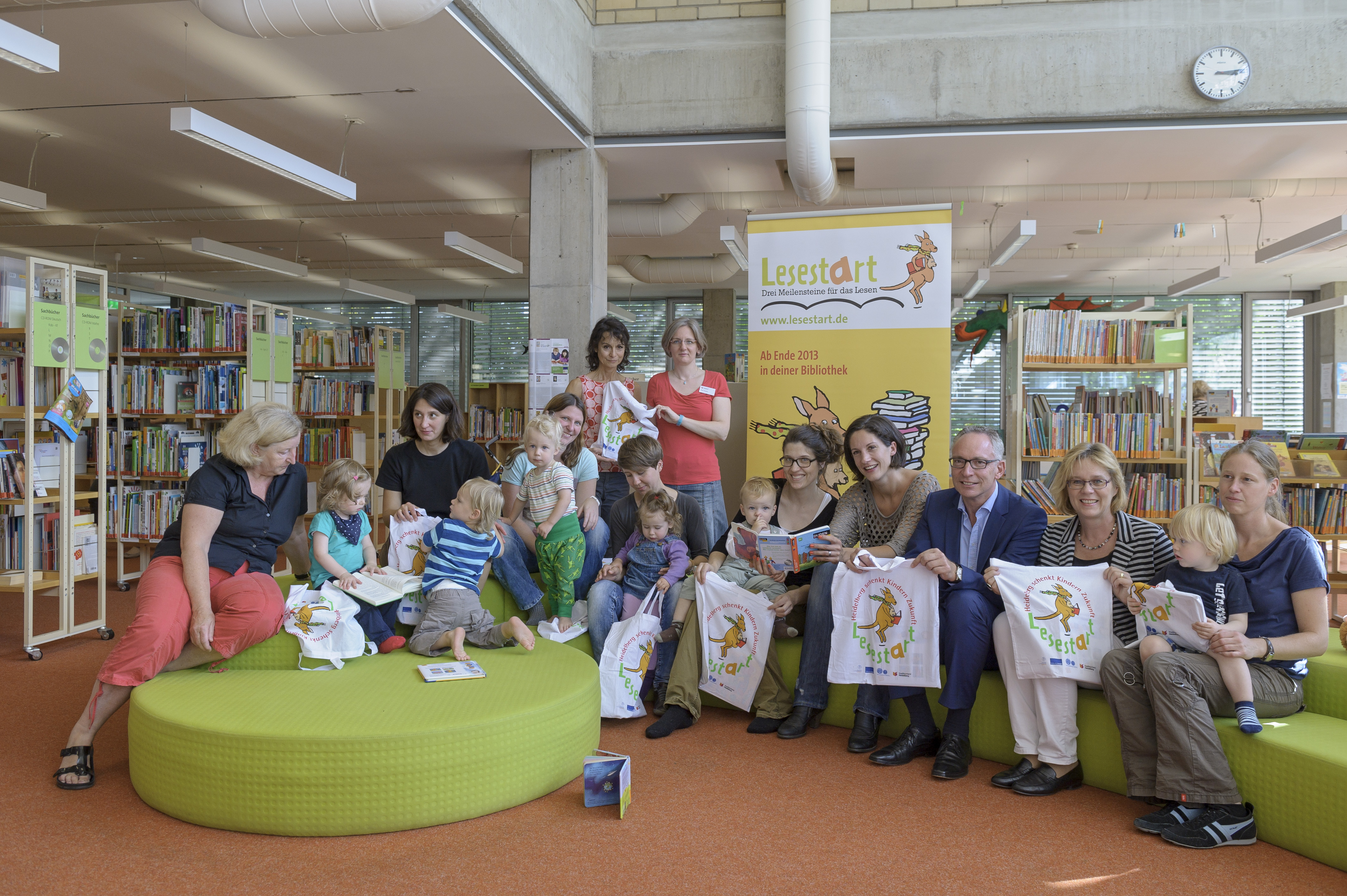 Aktion Lesestart in der Stadtbücherei Heidelbeerg. Foto: Philipp Rothe
