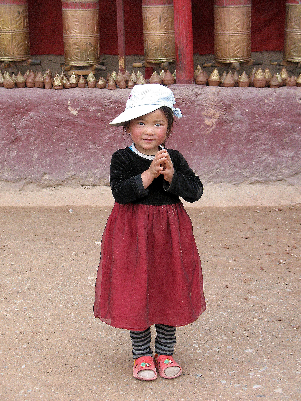 Kinderbilder aus Asien.