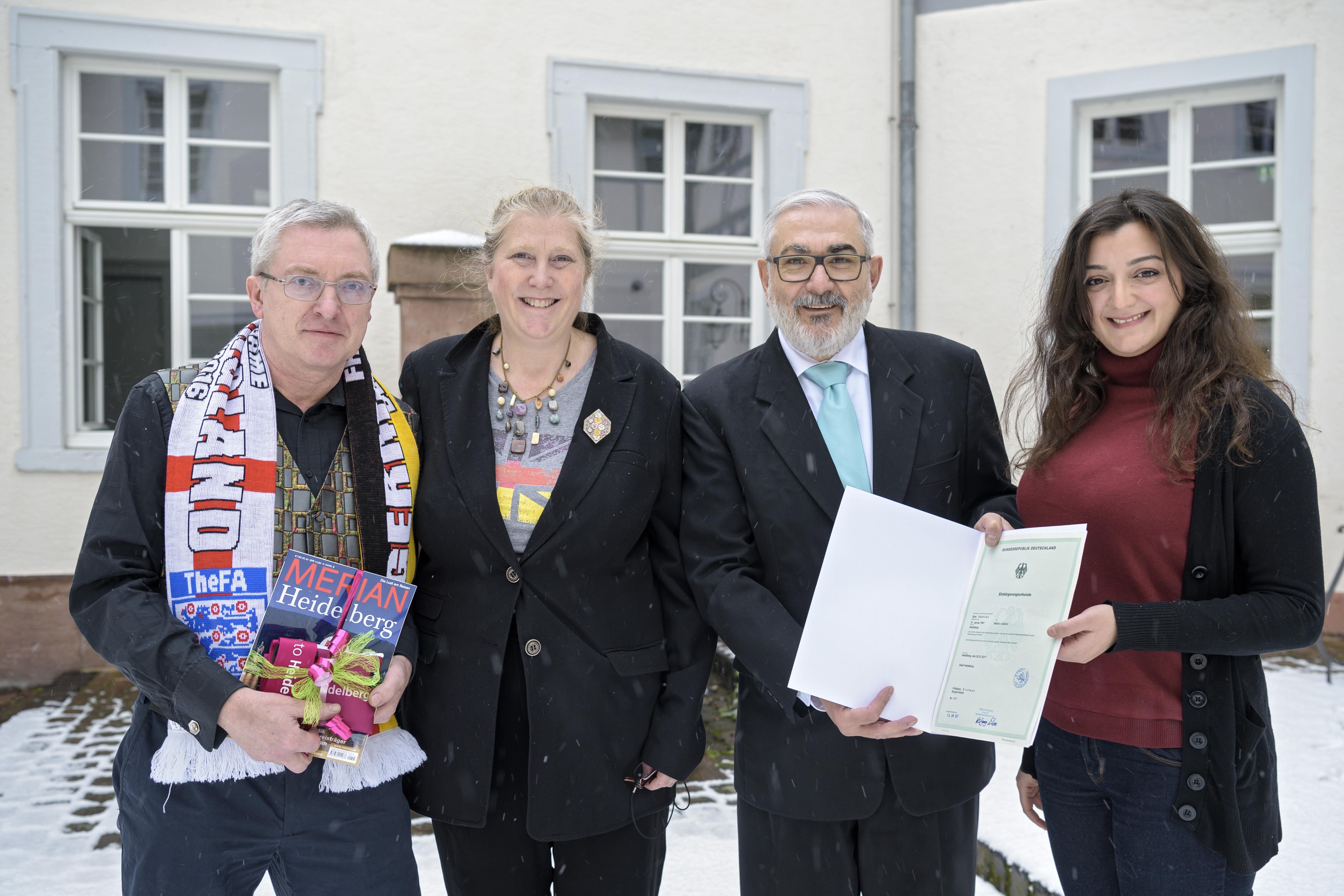 Bürgermeister Erichson begrüßt Neubürger