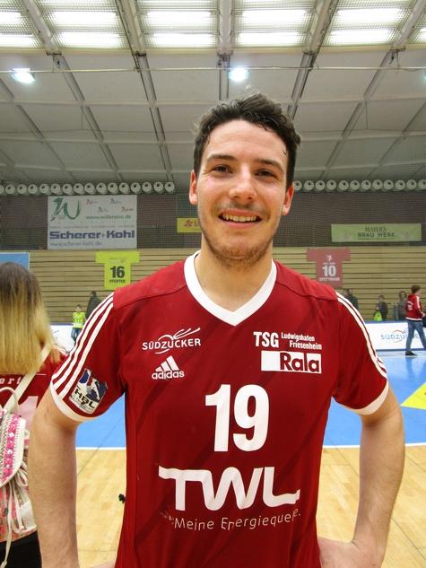 Der 22-jährige Rückraumspieler Jan Remmlinger warf bereits 13 Tore für die Eulen