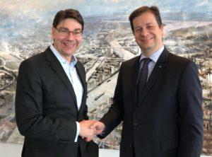 Walldorf / Landau – Regionale Zusammenarbeit: Landauer OB Hirsch trifft MRN-Spitzenvertreter Mucic