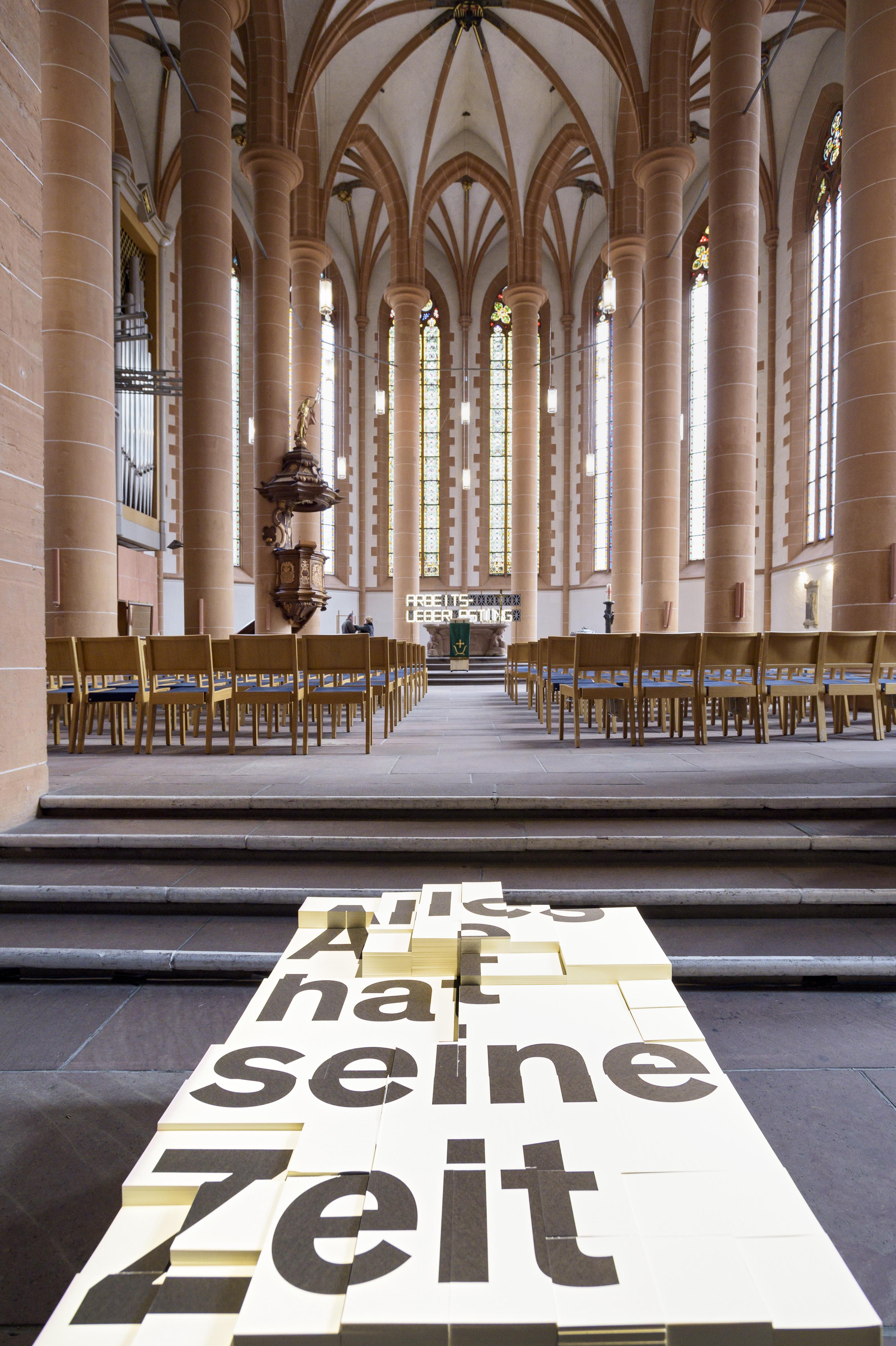 """""""Aufs Maul geschaut – Mit Luther in die Welt der Wörter"""" ist der Titekl einer Ausstellung, die bis zum 26. März dieses Jahres in der Heiliggeistkirche zu sehen ist.  Foto: Philipp Rothe, 24.02.2017"""