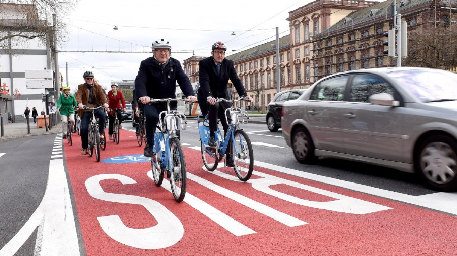Fahrradweg Bismarckstraße