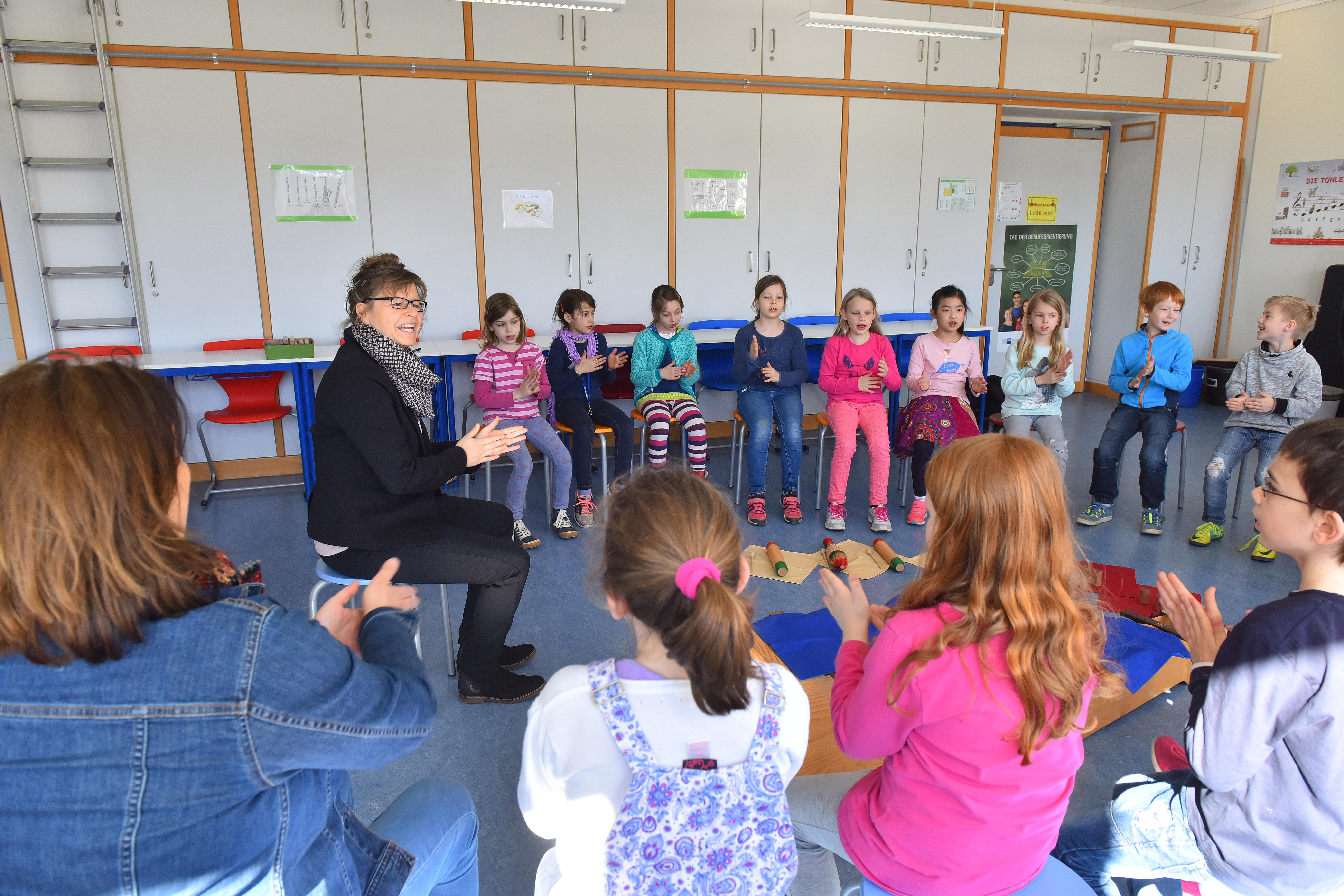Heidelberg Kirchheim Geschwister-Scholl-Schule. Musikprojekt. 27.3.2017 Foto: Peter Dorn