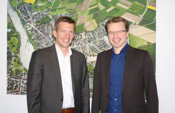 Edingen-Neckarhausen – Ladenburgs Bürgermeister Stefan Schmutz zu Besuch in der Nachbargemeinde