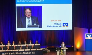 Mannheim – VR-Bank Rhein-Neckar bilanziert erfolgreiches Geschäftsjahr 2016  – Vier Prozent Dividende –