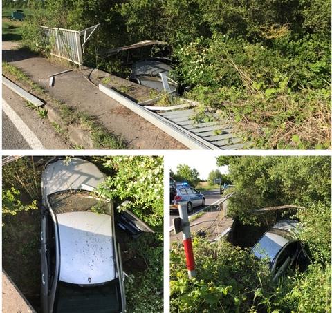 Frankenthal – Unfall zwischen Beindersheim und Großniedesheim