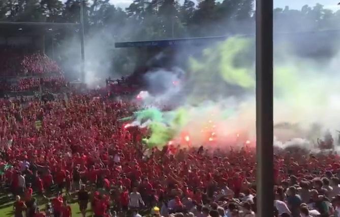 Sandhausen – Fans von Hannover 96 verletzen sich in Sandhausen