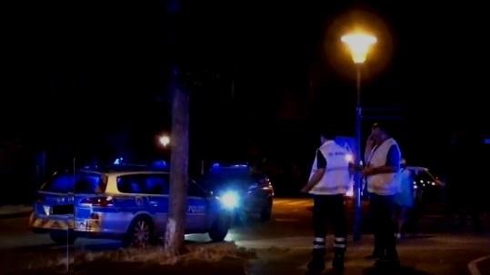 Polizeieinsatz bei Nacht