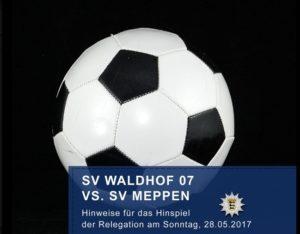 Mannheim – SV Waldhof Aufstiegsspiel – Infos der Polizei zur Anreise