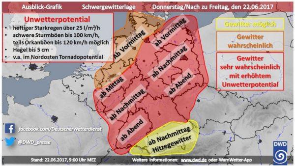 Rhein-Pfalz-Kreis – DWD warnt vor Unwetter!