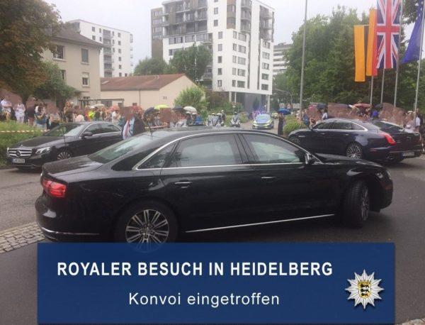 Heidelberg – Besuch von Herzog William und Herzogin Catherine aus polizeilicher Sicht –