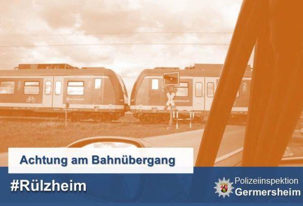 Rülzheim – Bahnschranke nach Unfall defekt! Verkehrsteilnehmer werden um erhöhte Vorsicht gebeten!