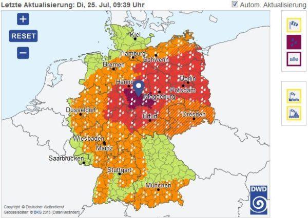 Ludwigshafen / Mannheim / Rhein-Pfalz-Kreis / Metropolregion Rhein-Neckar – Amtliche Unwetterwarnung