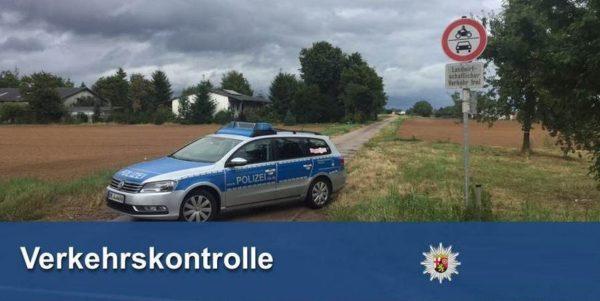 Bad Dürkheim – Hohe Beanstandungsquote bei Feldwegkontrolle!
