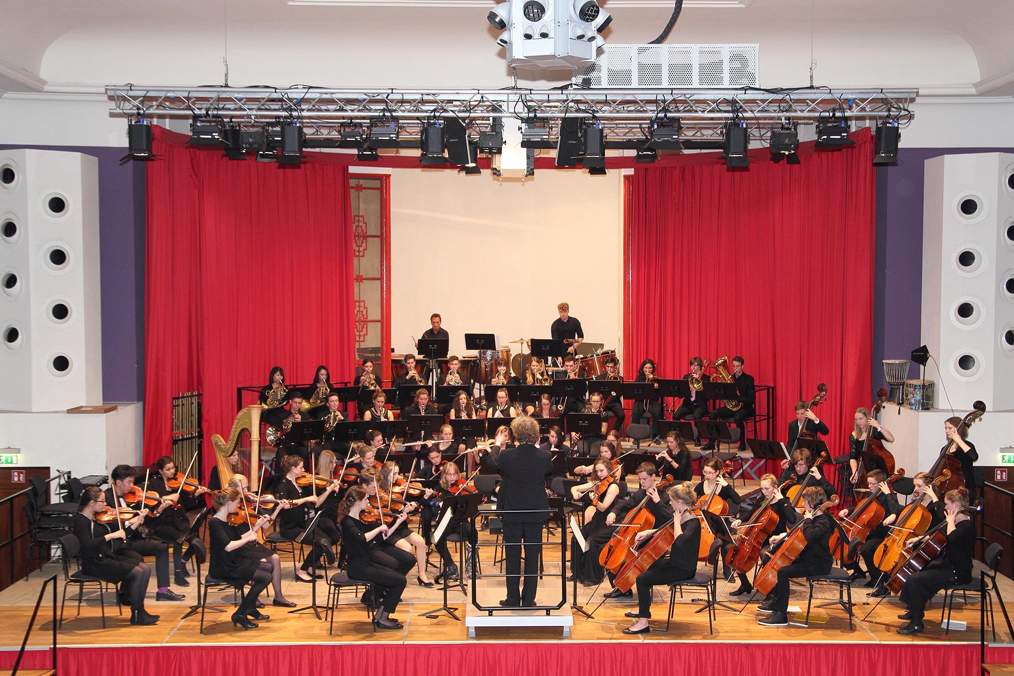 Konzertiert am 23. Juli: Das Heidelberger Jugendsinfonieorchester unter der Leitung von Thomas Kalb. Foto: Musik- und Singschule Heidelberg