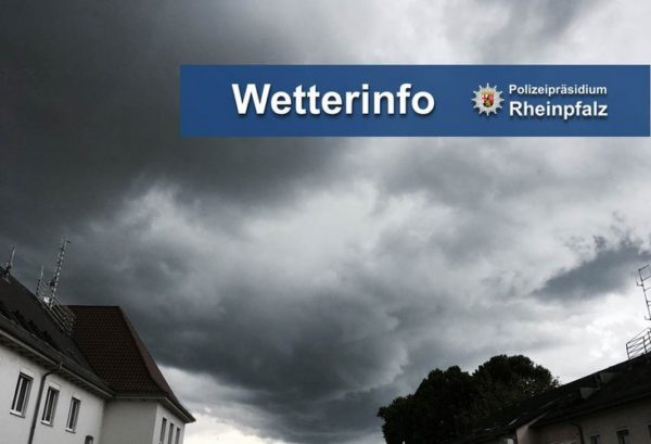 Ludwigshafen / Rhein-Pfalz-Kreis / Mannheim / Rhein-Neckar-Kreis / Kreis Bergstraße/ Metropolregion Rhein-Neckar – Amtliche Unwetterwarnung!