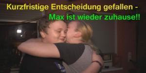 Max und seine Mutter endlich wieder vereint.