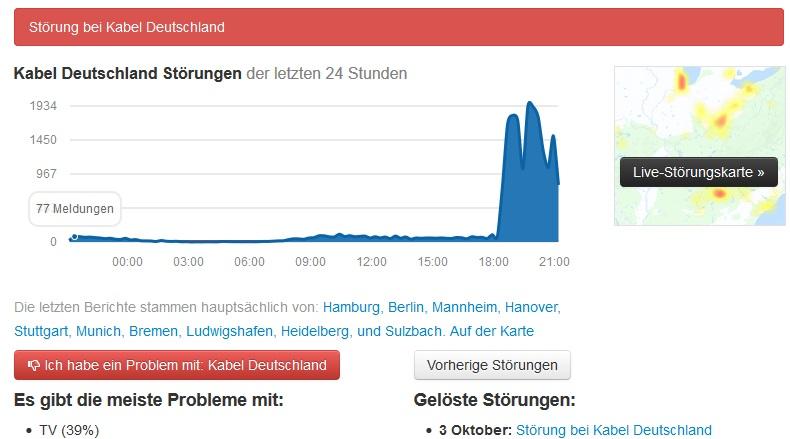 Kabel Deutschland Störung Oldenburg