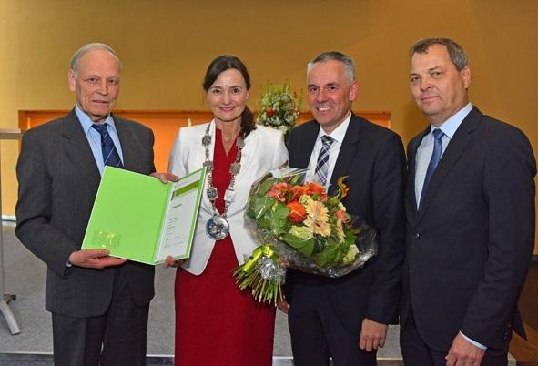 SRH Hochschule. Amtseinfuehrung der neuen Rektoren Prof.Dr. Katja Rade. 28.4.2017 Foto: Peter Dorn
