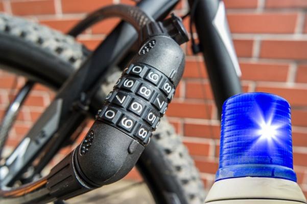 Fahrraddiebstahl Blaulicht