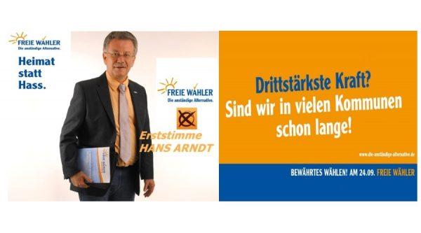 Ludwigshafen – Hans Arndt FREIE WÄHLER: Drittstärkste Kraft? Sind wir in vielen Kommunen schon lange!