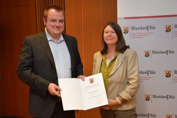 Landau – Umweltpreis Rheinland-Pfalz 2017: EnergieSüdwest erhält Auszeichnung für Carsharing-Program ESEL