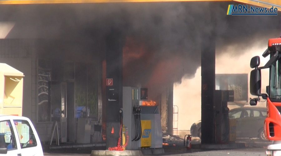 Ludwigshafen – Tankstelle in Maudach löst Großeinsatz der Feuerwehr aus