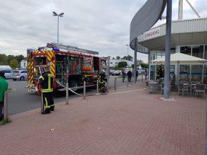 Haßloch – Brand im Imbiss  Einkaufszentrum Süd löste Feuerwehreinsatz aus