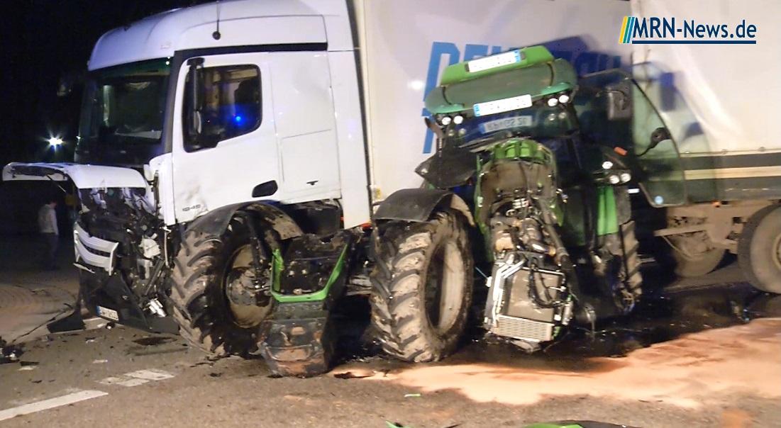 Speyer – Schwerer Unfall zwischen Traktor und Sattelzug ...