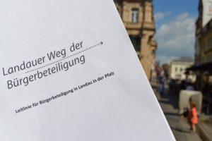 Landau – Beteiligungsrat der Stadt Landau kommt zu vierter Sitzung zusammen