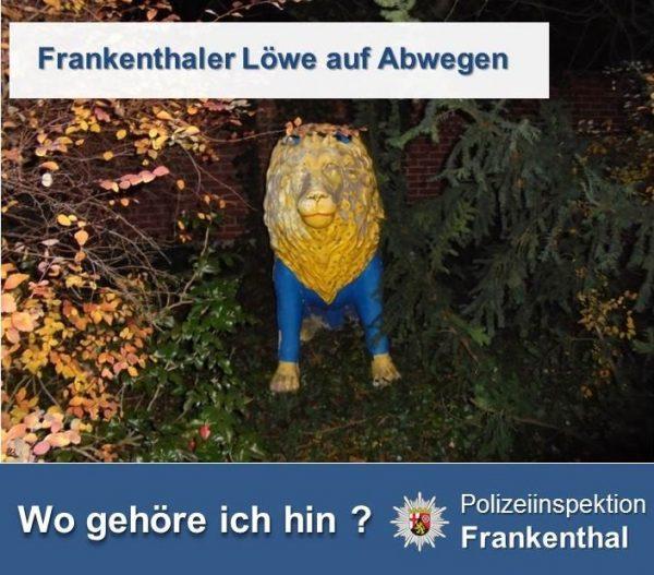 Frankenthal – Löwe auf Abwegen