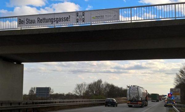 Frankenthal – Rettungsgasse – neue Banner im Bereich  A6/A61