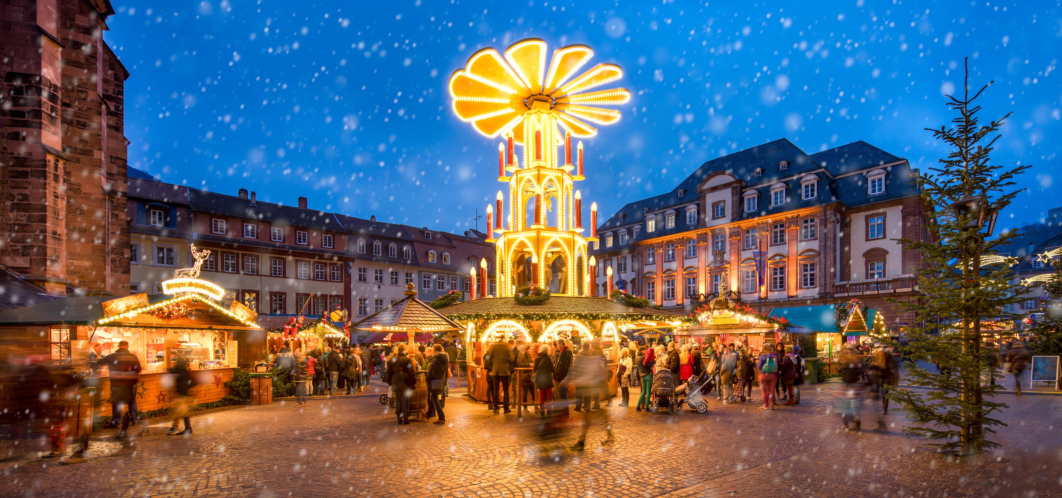 Heidelberg Weihnachtsmarkt.Heidelberg Zauberhafte Stimmung Auf Dem Heidelberger
