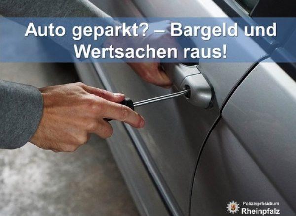 Ludwigshafen- Handtasche aus Auto gestohlen