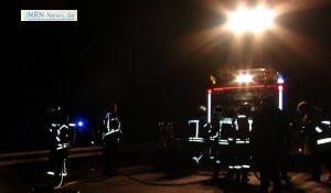 Mannheim – Pkw prallt gegen Fahrleitungsmast – eine Person schwer verletzt