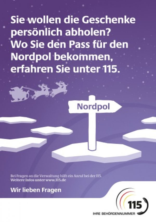 Landau – Auskünfte in der Vorweihnachtszeit auch außerhalb der Verwaltungsöffnungszeiten – Behördennummer 115 informiert von A wie Ausweis bis Z wie Zulassung