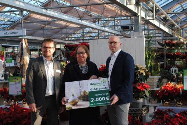 Ludwigshafen – Vorweihnachtliche Hilfsaktion:  Dehner Hilfsfonds spendet 2.000 Euro an Tafel in Ludwigshafen