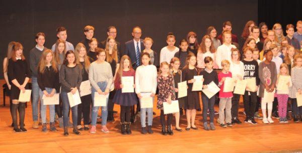 """Germersheim – Ehrung der Preisträger von """"Jugend musiziert"""""""