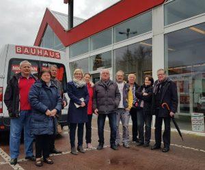 Speyer – Nahversorgung in Speyer-Nord – OB-Kandidatin Stefanie Seiler und SPD-Ortsverein Speyer-Nord im Gespräch mit der Bauhaus AG
