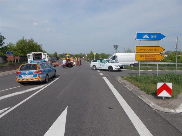 Bad Dürkheim – Schwerverletzte Motorradfahrerin