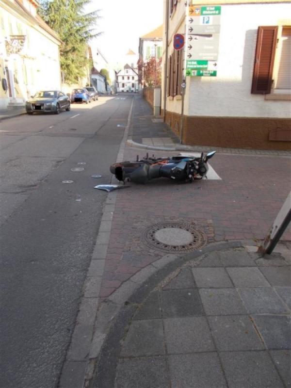 Wachenheim an der Weinstraße – Verkehrsunfall mit Motorradfahrer