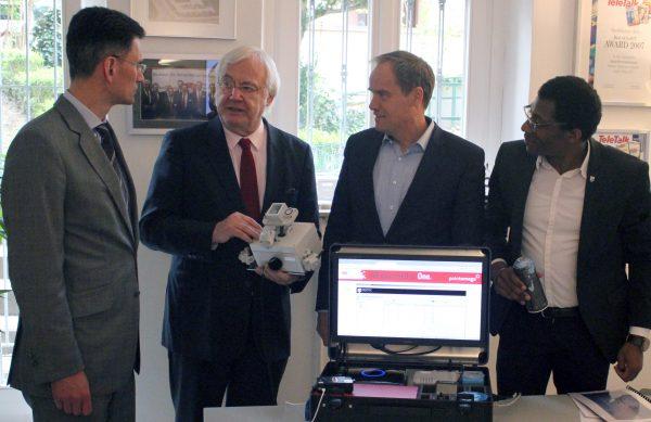 Heidelberg – Oberbürgermeister Prof. Dr. Eckart Würzner besuchte innovative Heidelberger Unternehmen