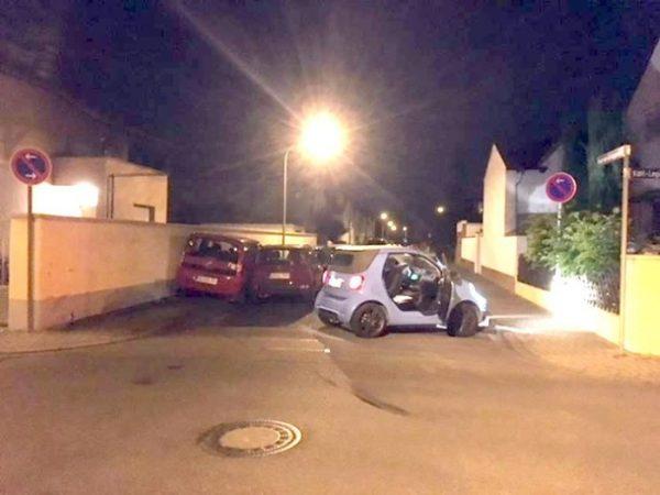 Ludwigshafen – Spektakulärer Unfall mit hohem Sachschaden und 2 Leichtverletzten