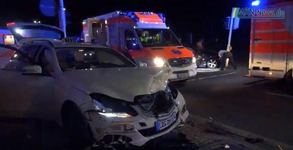 Ludwigshafen – Video – Schwerer Unfall in der Saarlandstraße