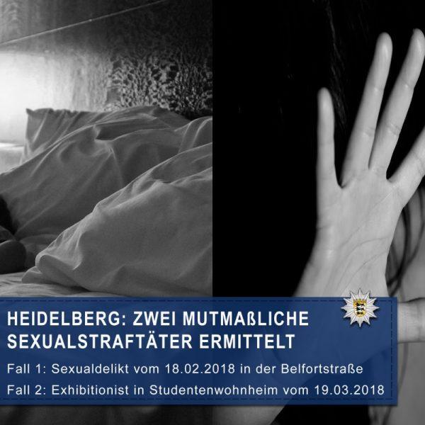 Heidelberg – Zwei mutmaßliche #Sexualstraftäter aus zwei unterschiedlichen Fällen ermittelt – beide bereits wegen anderer Straftaten in Haft
