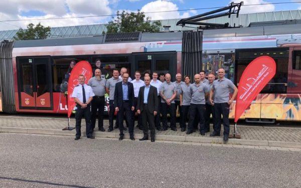 Ludwigshafen – Feuerwehr macht mit Straßenbahn auf sich aufmerksam