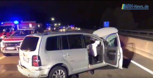 Rhein-Pfalz-Kreis – A 650 schwerer Unfall zwischen Maxdorf und Friedelsheim (Video)