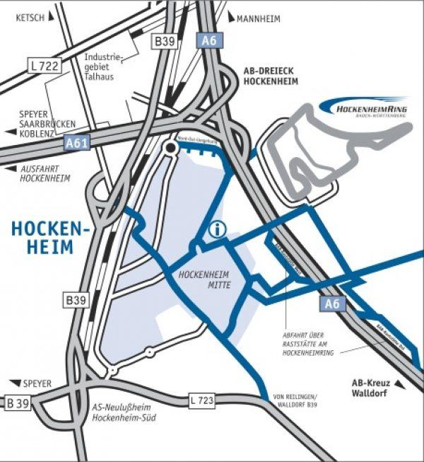 Hockenheim – Großer Preis von Deutschland der Formel 1  – Anreise der Besucher – Hinweise und Tipps