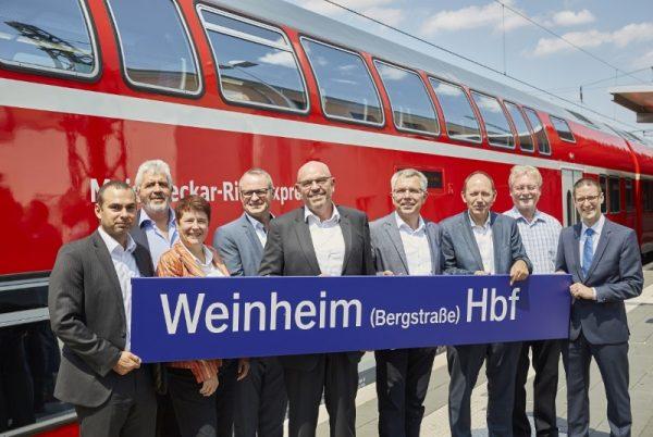 Weinheim – Bahnhof in Weinheim nach barrierefreiem Ausbau offiziell eingeweiht